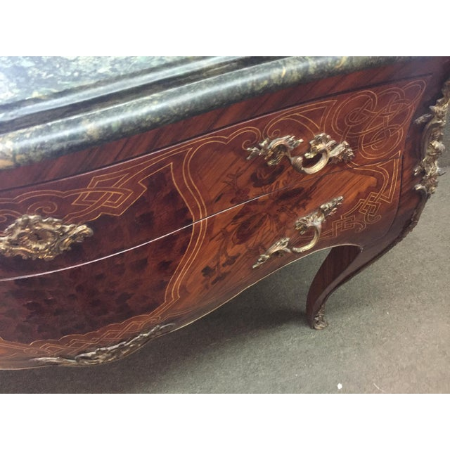 French French Louis XV Style Marble Commode For Sale - Image 3 of 12