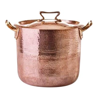 Amoretti Brothers Handmade Copper 10qt Stock Pot - Standard Lid For Sale