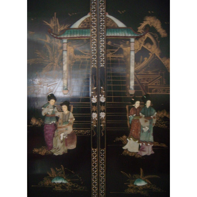 """""""Courtesans in the Garden"""" Wall Hangings (Four) - Image 2 of 8"""