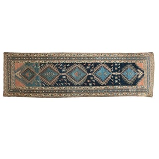 "Vintage Kurdish Rug Runner - 3'3"" x 10'8"" For Sale"