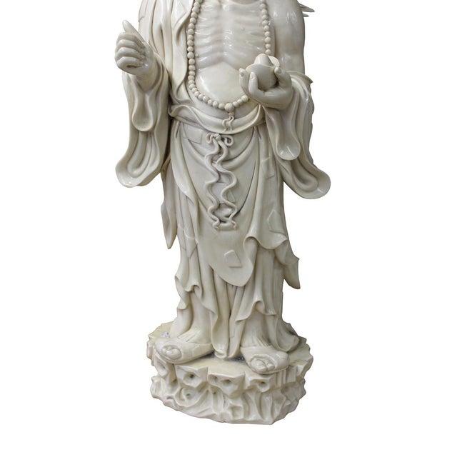 Asian Chinese Porcelain Chan Master Daoji Buddha Beggar Figure For Sale - Image 3 of 6