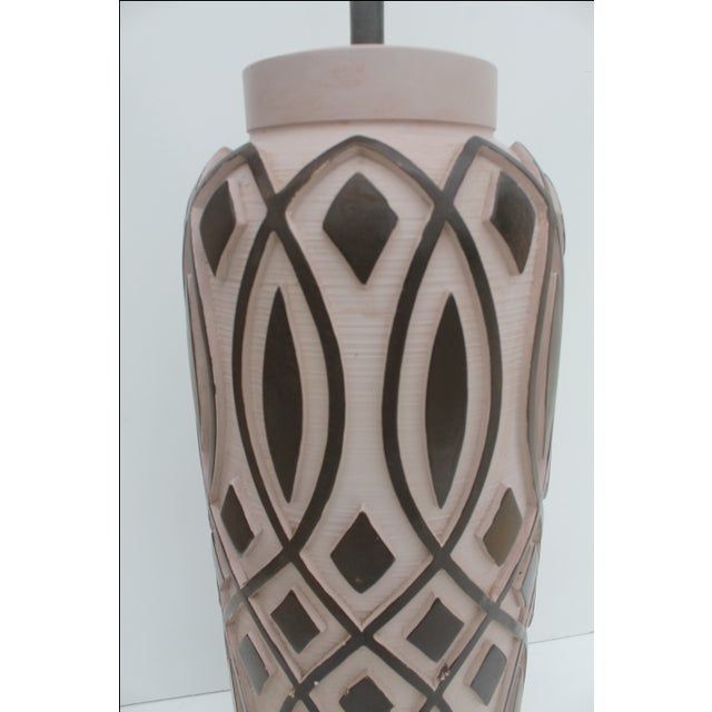 Vintage F.I.A.P. Art Pottery Table Lamp For Sale - Image 4 of 11