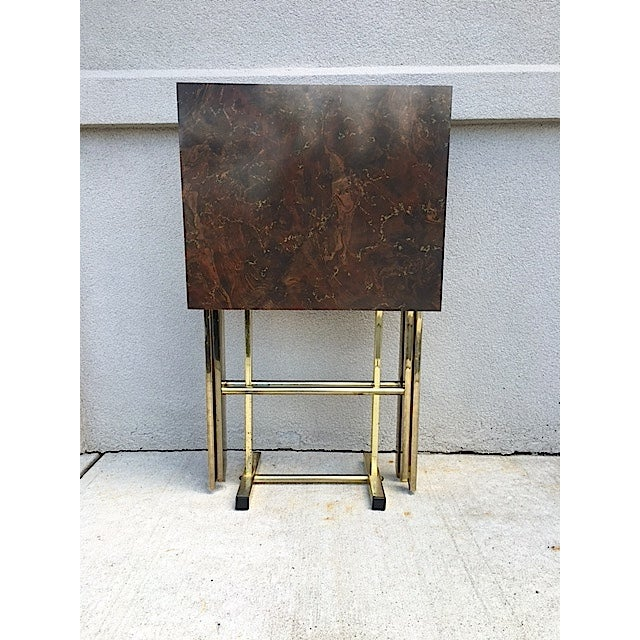 Hollywood Regency Style Tray Tables - Pair - Image 2 of 6