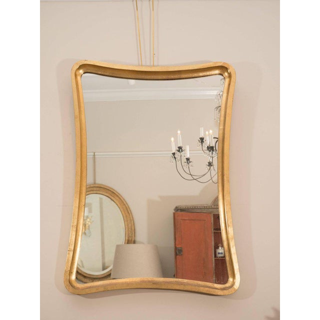 Pair of Giltwood Wavy Mirrors For Sale - Image 4 of 6