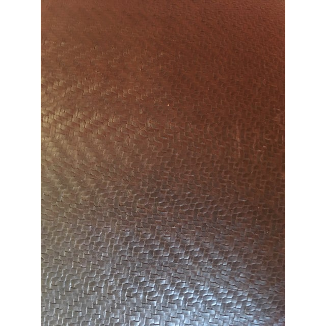 2000 - 2009 Vintage Leather Ottoman in the Style of Ralph Lauren For Sale - Image 5 of 7
