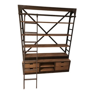Restoration Hardware Bookshelf 1950s Dutch Shipyard Shelving For Sale