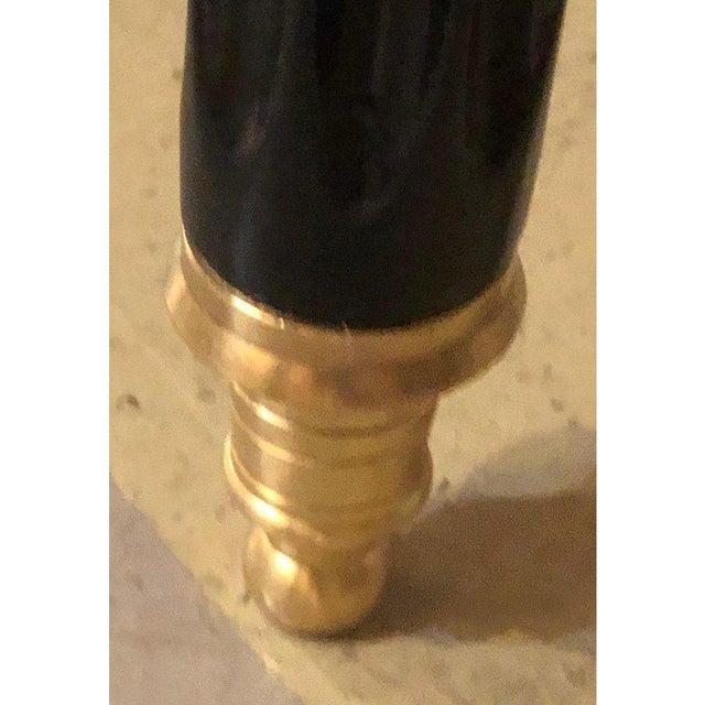 Ebony and Bronze Mounted Hollywood Regency Serving Cart or Étagère Jansen For Sale - Image 11 of 13