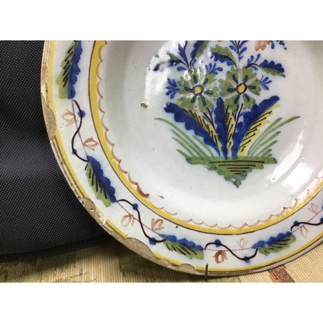 Traditional Colorful Dutch Delft Plate #4 For Sale - Image 3 of 7