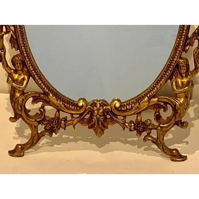 Napoleon III Bronze Dressing Mirror For Sale - Image 4 of 10