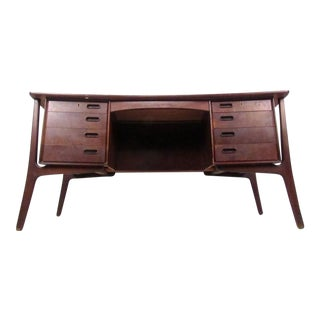 Svend Aage Madsen Danish Rosewood Executive Desk