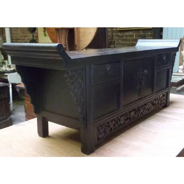 Asian Chinese Altar Coffer Cabinet For Sale - Image 4 of 11