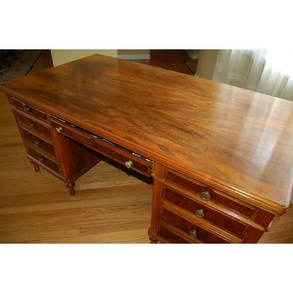 Early 1900's Mahogany Partner Desk by CF Roth - Image 5 of 9