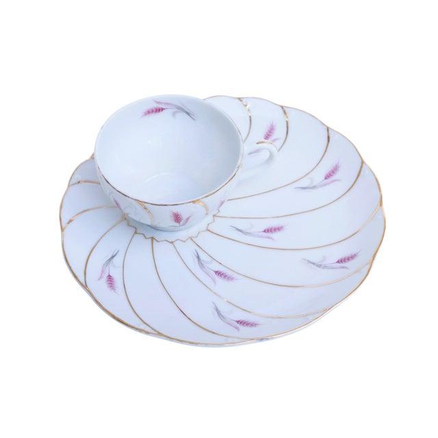 Mid 20th Century Yamaka 12-Piece Bone China Teacup & Saucer Set For Sale - Image 5 of 9