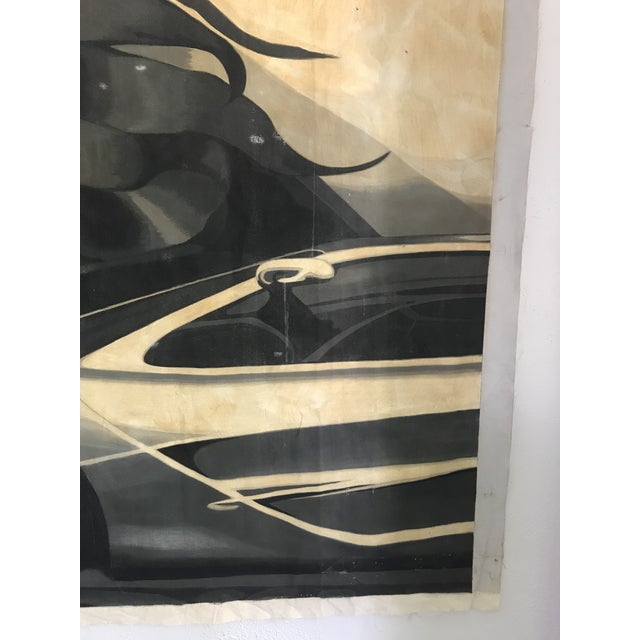 Large Scale 1980s Painting in Style of Tamara De Lempicka For Sale In Portland, OR - Image 6 of 9