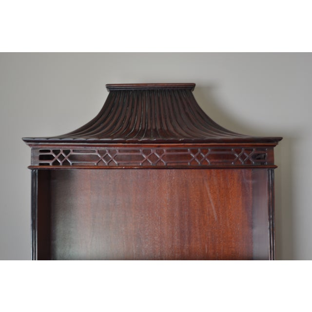 Mahogany Chinese Chippendale Bookcase - Image 8 of 9