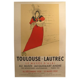 1958-59 Original French Toulouse-Lautrec Exhibition Poster - Musee d'Albi - Toulouse-Lautrec (After) For Sale