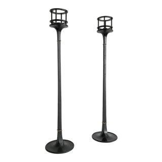 1960s Mid-Century Modern Dansk Jens Quistgaard Black Iron Candlesticks - a Pair For Sale