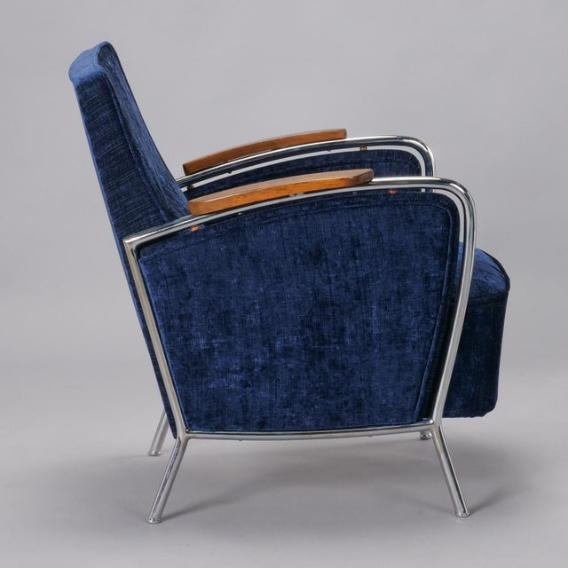Metal Pair Bauhaus Steel and Wood Club Chairs For Sale - Image 7 of 11