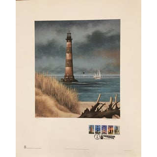 Howard Koslow Morris Island Lighthouse Limited Edition Print For Sale