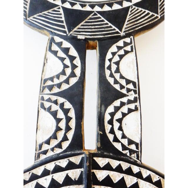 Lg Baule Tribe Moon Mask - Image 3 of 8