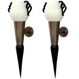 Pair of Torchere Sconces by Fabio Ltd For Sale