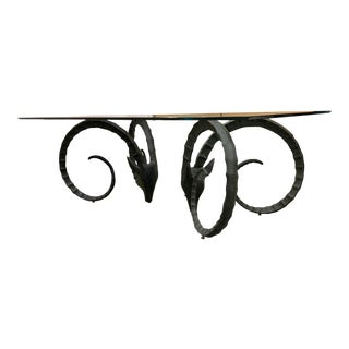 Vintage Black Ibex Dining Table For Sale
