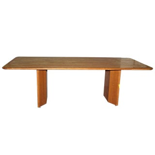 Racetrack Style Oak Dining / Conference Room Table For Sale