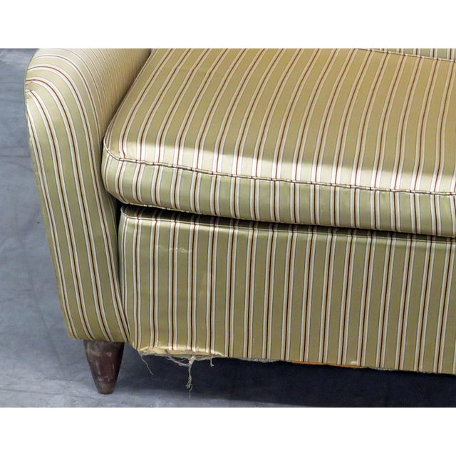 Italian modern fully upholstered sofa, in the manner of Gio Ponti.
