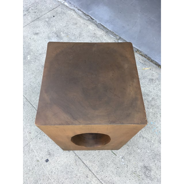 Mahogany Sculptural Side Table For Sale - Image 4 of 9