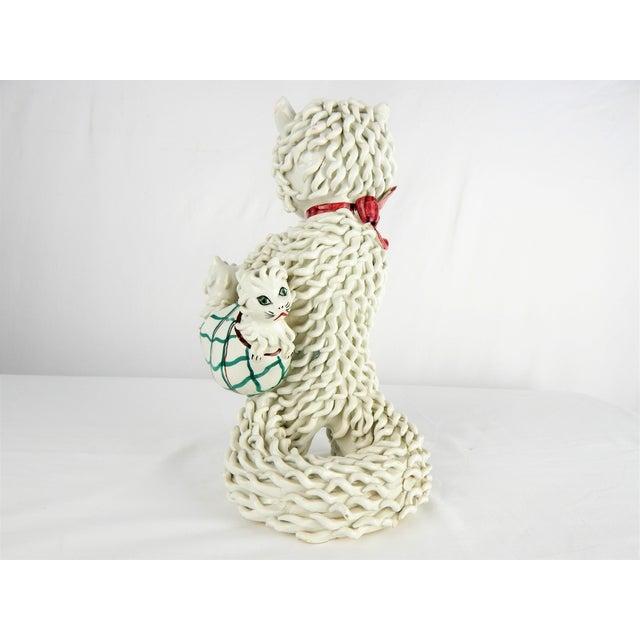 White 1950s Italian Spaghetti Cat & Kittens Figure For Sale - Image 8 of 12