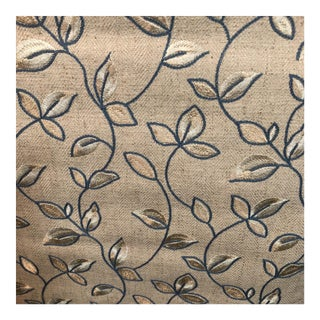 Leaves on a Vine Embroidered Fabric - 1.5 Yard