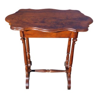 Antique 19th C Victorian Occasional Table Entry Table Console Sofa Table For Sale