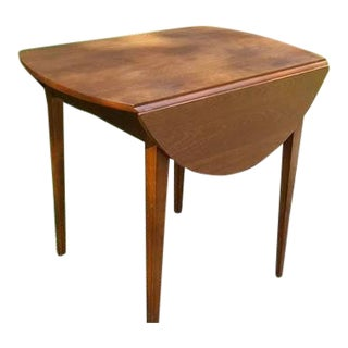L. Hitchcock Cherry Drop Leaf Accent Table