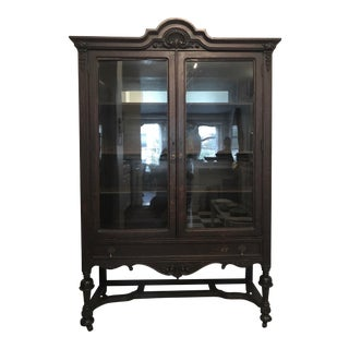 Oak Wood China Cabinet For Sale