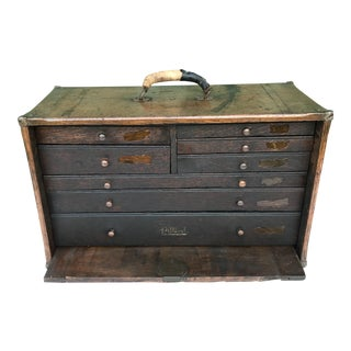 Antique Pilliod Wood Storage Chest For Sale
