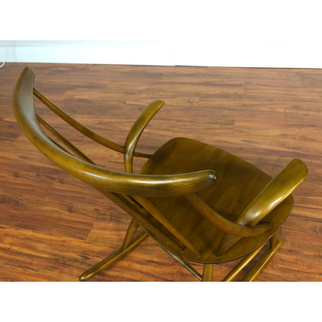 Illum Wikkelso for Niels Eilersen Gyngestol Rocking Chair For Sale - Image 12 of 13