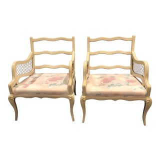 1960s Vintage Dorothy Draper Style Hollywood Regency Chairs- A Pair For Sale