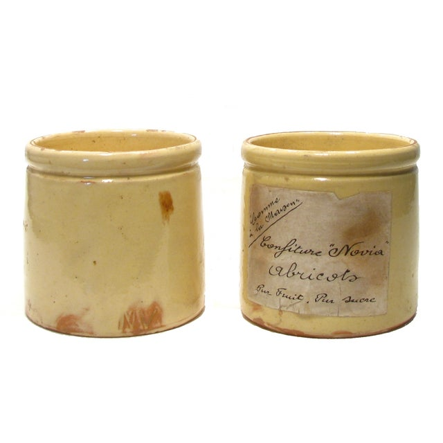 Antique French Glazed Pots - A Pair - Image 1 of 3