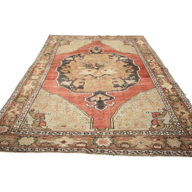 20th Century Turkish Oushak Rug For Sale - Image 4 of 6