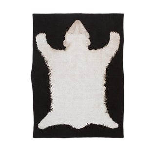 Polar Bear Rug Cashmere Blanket, Queen For Sale