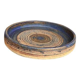 1970's Mid-Century Ceramic Platter by Tue Poulsen For Sale