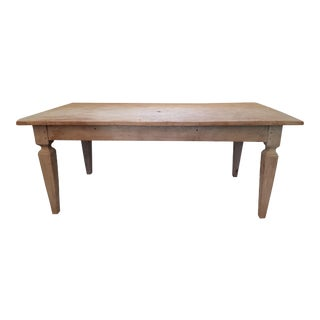 Italian Primitive Country Dining Table For Sale