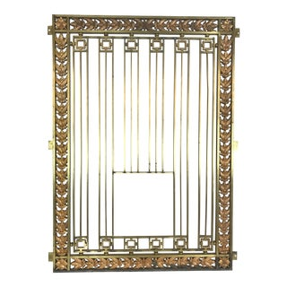 19th Century Americana Bank Teller Cage Bar For Sale