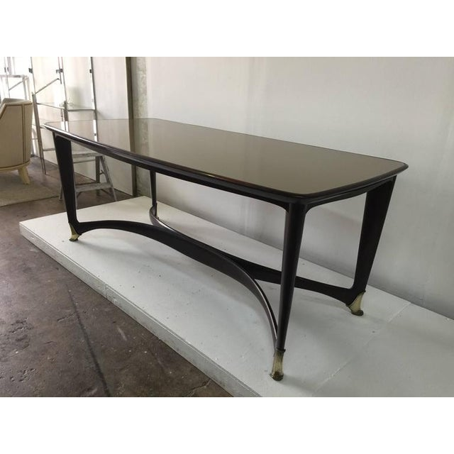 Paolo Buffa Reverse Painted Top and Walnut Italian Dining Table - Image 8 of 8