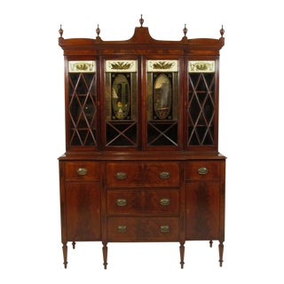 Federal Style Breakfront Secretary For Sale