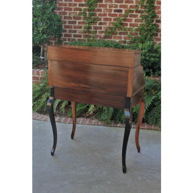 Antique French Birds Eye Maple Fall Front Secretary Desk Bureau For Sale - Image 12 of 13