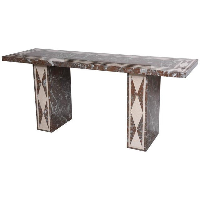 Large-Scale Italian, Neoclassical-Style Marble Console/Buffet Table - Image 9 of 9