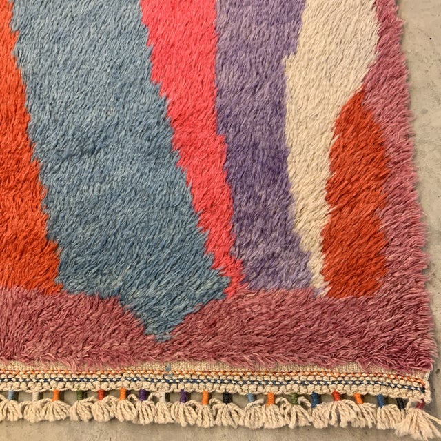 """Turkish Moroccan-Style Geometric Shag Rug - 7'7x10'6"""" For Sale In Richmond - Image 6 of 12"""