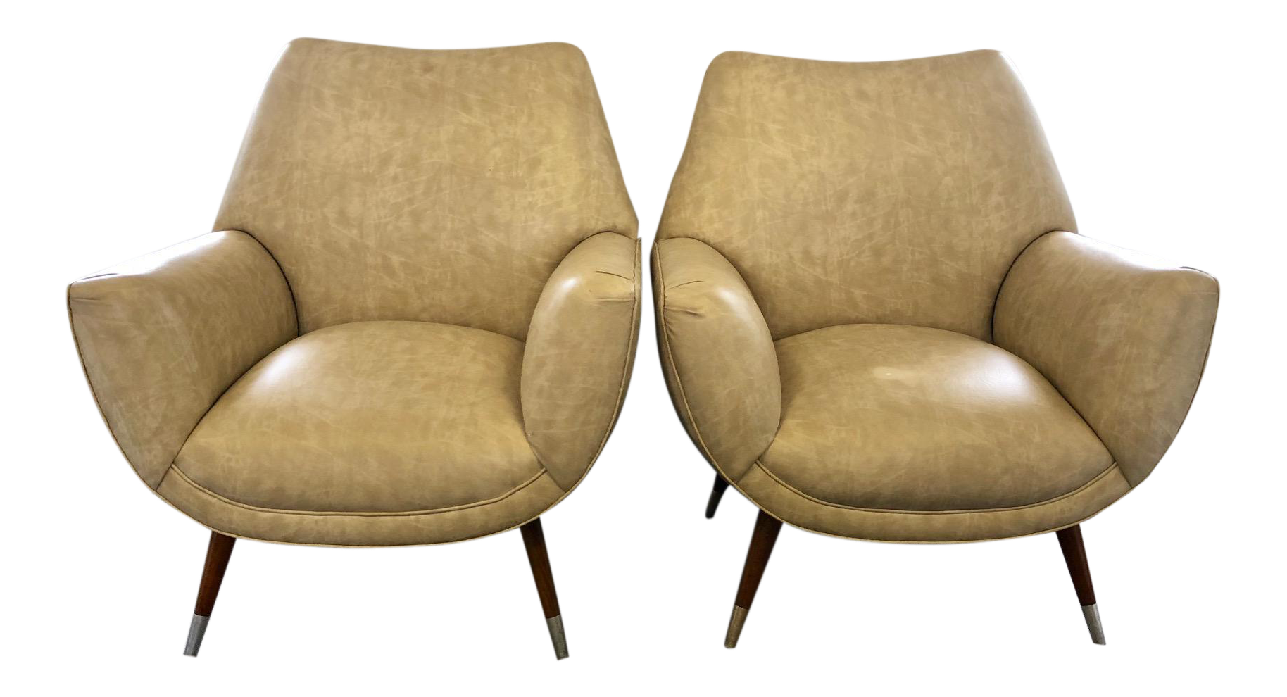 Mid Century Club Chairs   A Pair   Image 1 Of 10