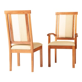 Barkley Solid Walnut Dining Chairs- A Pair For Sale